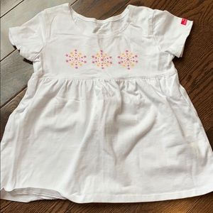 American Girl White Tunic Shirt with Stars S(7/8)